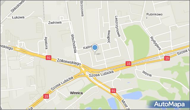 Toruń, Jarzębinowa, mapa Torunia