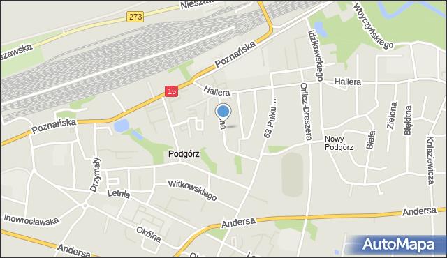 Toruń, Jasna, mapa Torunia