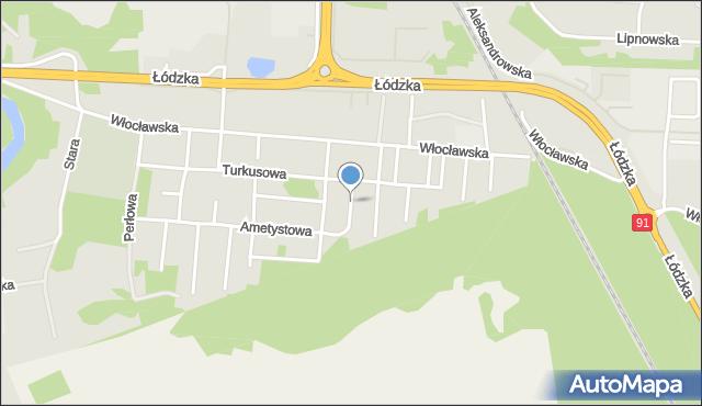 Toruń, Jaspisowa, mapa Torunia