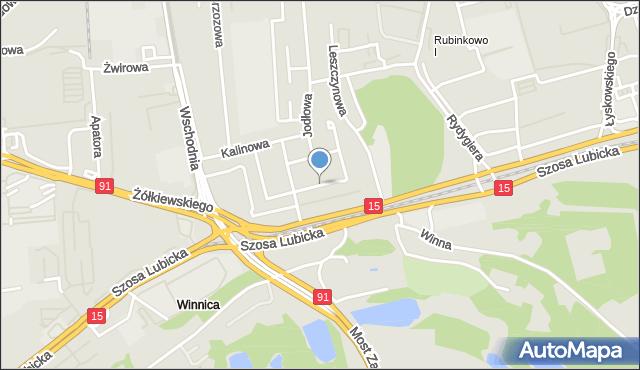 Toruń, Jaworowa, mapa Torunia