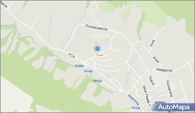 Ustrzyki Dolne, Jagiellońska, mapa Ustrzyki Dolne