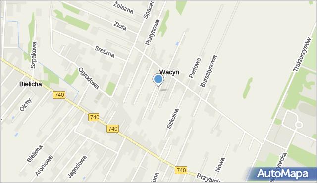 Wacyn, Jaśminowa, mapa Wacyn