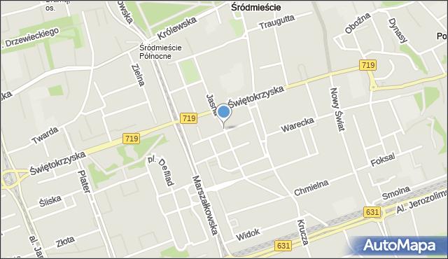Warszawa, Jasna, mapa Warszawy