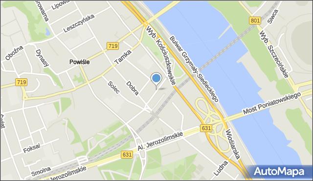 Warszawa, Jaracza Stefana, mapa Warszawy