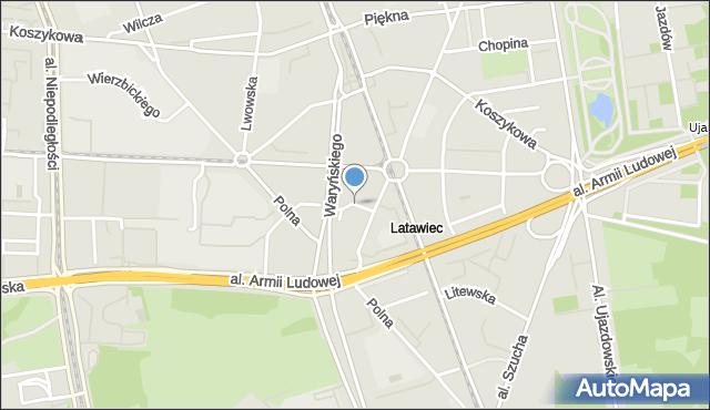 Warszawa, Jaworzyńska, mapa Warszawy