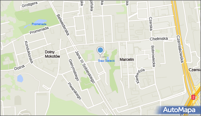 Warszawa, Jazgarzewska, mapa Warszawy