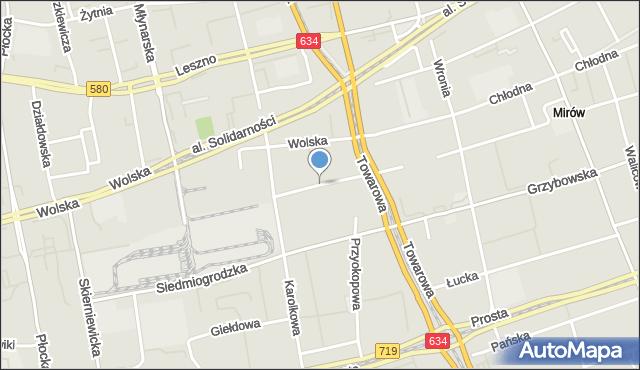 Warszawa, Jaktorowska, mapa Warszawy