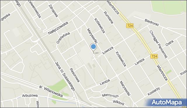 Warszawa, Jabłonowskiego Stanisława Jana, mapa Warszawy