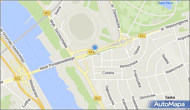 Warszawa, Jakubowska, mapa Warszawy