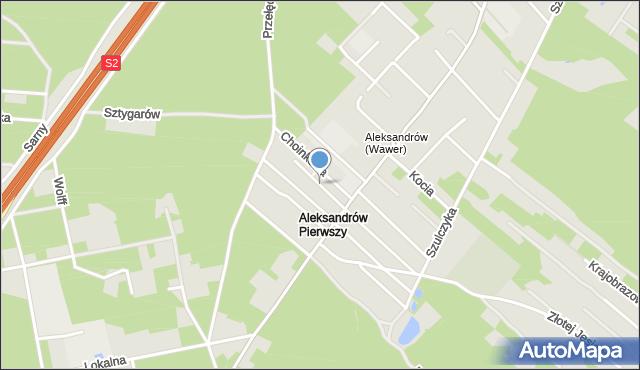 Warszawa, Jasnoty, mapa Warszawy