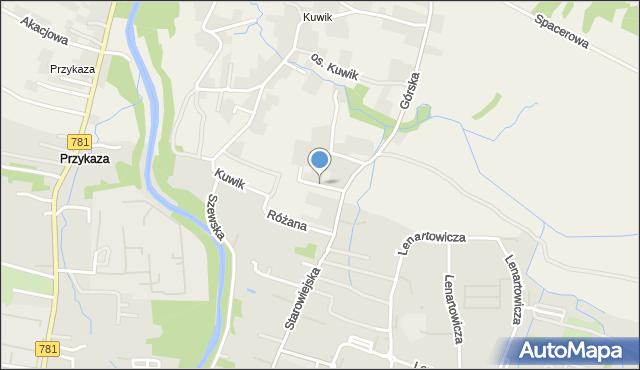 Wieprz powiat wadowicki, Jasna, mapa Wieprz powiat wadowicki