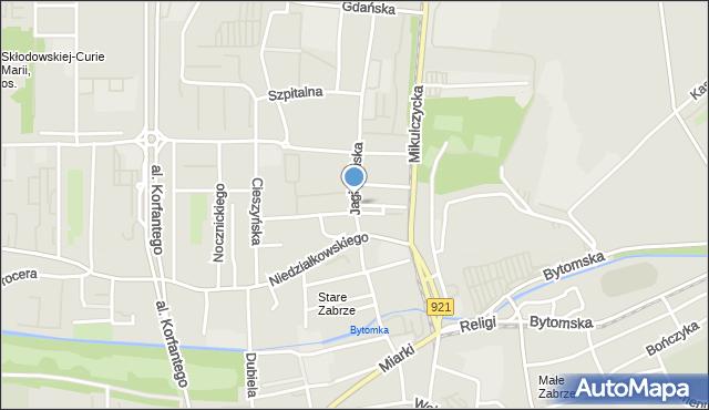 Zabrze, Jagiellońska, mapa Zabrza