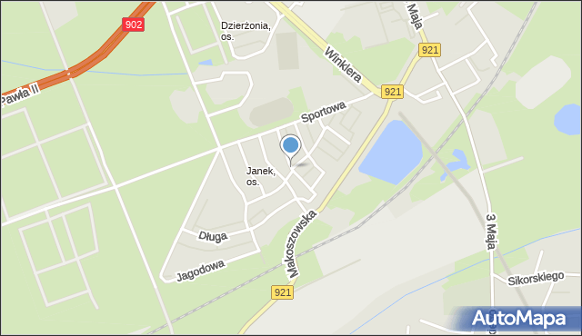 Zabrze, Jarzębia, mapa Zabrza