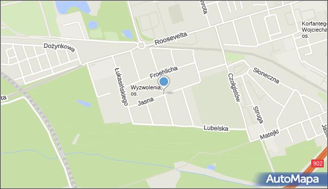 Zabrze, Jasna, mapa Zabrza
