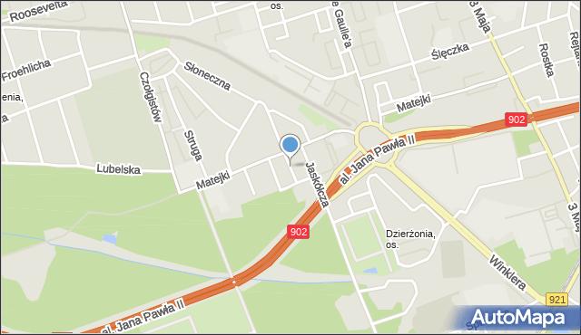 Zabrze, Jastrzębia, mapa Zabrza