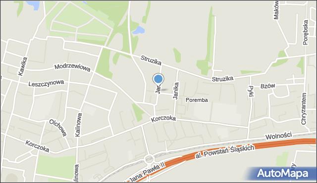 Zabrze, Janika Pawła, ks., mapa Zabrza