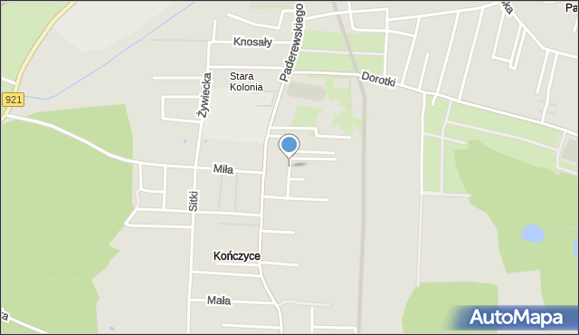 Zabrze, Janasa Wincentego, mapa Zabrza