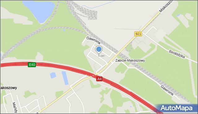 Zabrze, Jaśminowa, mapa Zabrza