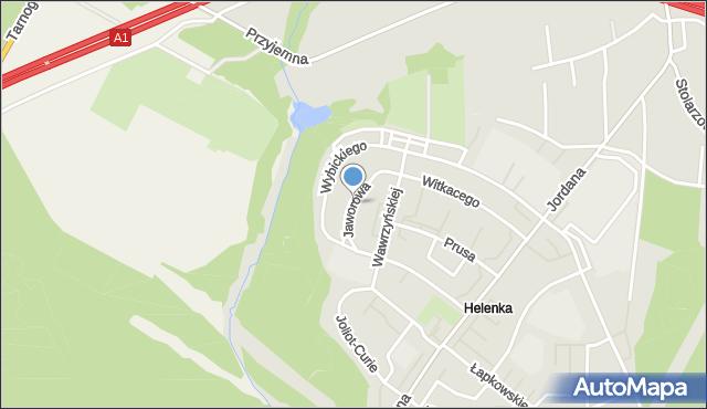 Zabrze, Jaworowa, mapa Zabrza