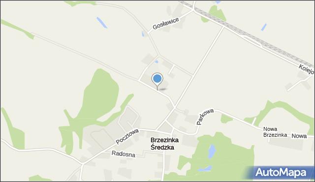 Brzezinka Średzka, Jesionowa, mapa Brzezinka Średzka