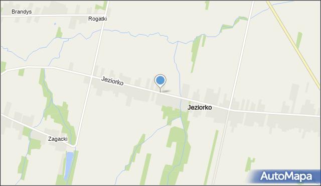 Jeziorko gmina Nowa Słupia, Jeziorko, mapa Jeziorko gmina Nowa Słupia
