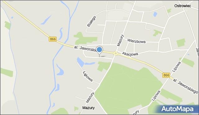 Lubaczów, Jeziorańskiego Antoniego, gen., mapa Lubaczów