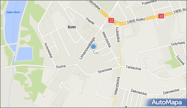 Radom, Jesionowa, mapa Radomia