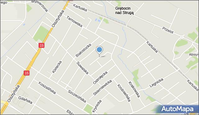 Toruń, Jeleniogórska, mapa Torunia