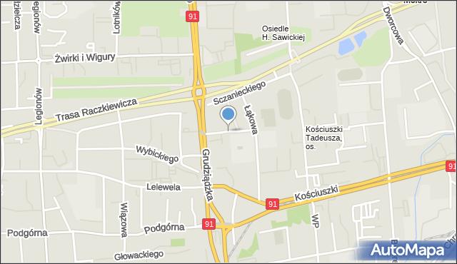 Toruń, Jeśmanowicza Leona, mapa Torunia