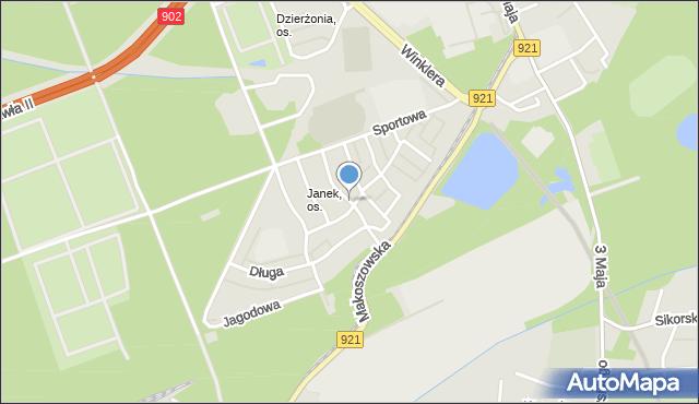 Zabrze, Jesionowa, mapa Zabrza
