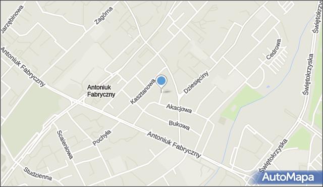 Białystok, Jodłowa, mapa Białegostoku