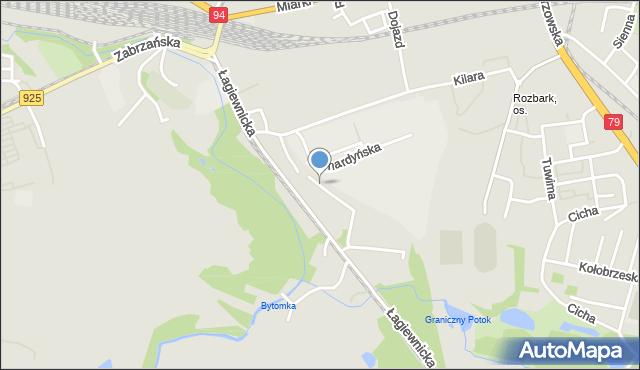 Bytom, Jodłowa, mapa Bytomia