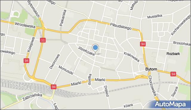 Bytom, Józefczaka Antoniego, mapa Bytomia