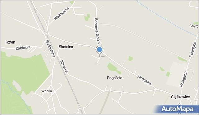 Jaworzno, Jodłowa, mapa Jaworzno