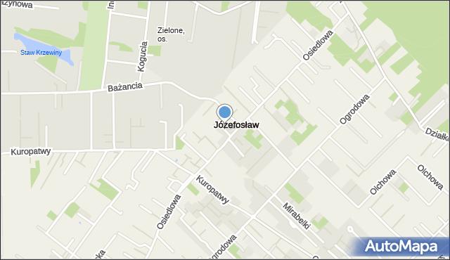 Józefosław, Józefosław, mapa Józefosław