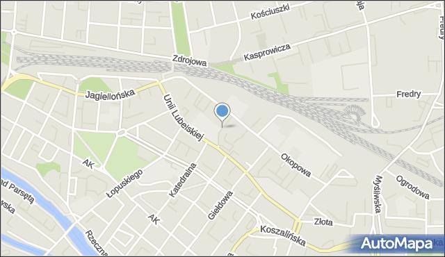Kołobrzeg, Jordana Henryka, mapa Kołobrzegu