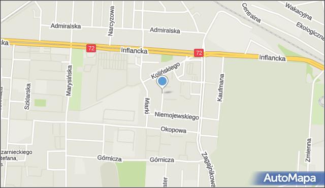 Łódź, Jonschera Karola, dr., mapa Łodzi