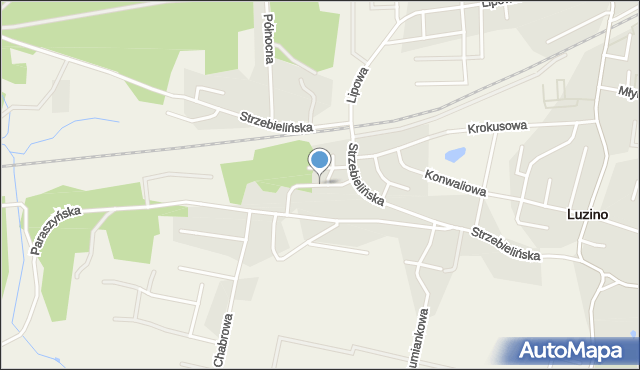 Luzino, Jodłowa, mapa Luzino