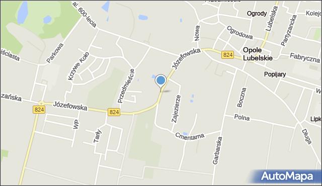 Opole Lubelskie, Józefowska, mapa Opole Lubelskie