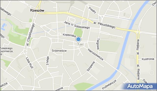 Rzeszów, Joselewicza Berka, płk., mapa Rzeszów