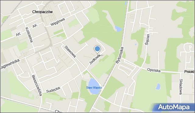 Świętochłowice, Jodłowa, mapa Świętochłowice
