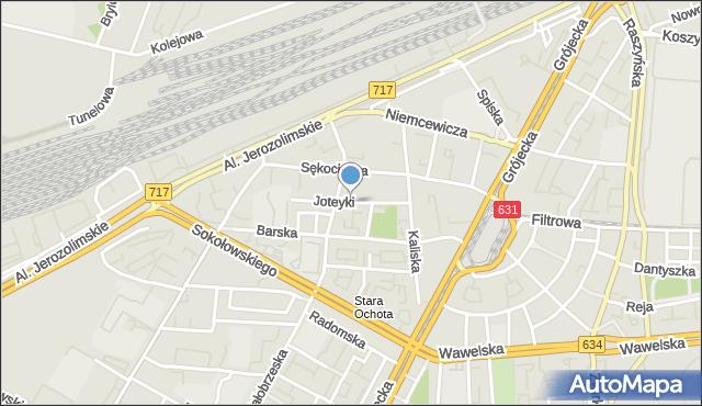 Warszawa, Joteyki Tadeusza, mapa Warszawy