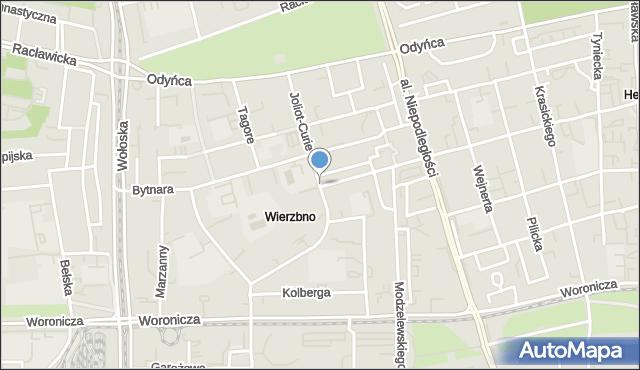Warszawa, Joliot-Curie Fryderyka, mapa Warszawy
