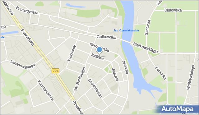 Warszawa, Jodłowa, mapa Warszawy