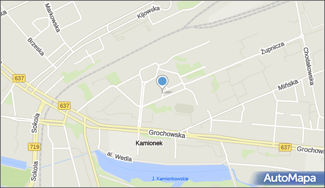 Warszawa, Joselewicza Berka, płk., mapa Warszawy