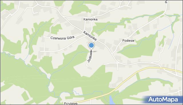 Zakliczyn gmina Siepraw, Jodłowa, mapa Zakliczyn gmina Siepraw