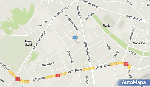 Radom, Juliusza, mapa Radomia