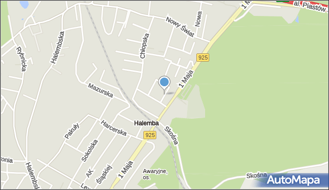 Ruda Śląska, Junaków, mapa Rudy Śląskiej