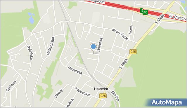 Ruda Śląska, Jutrzenki, mapa Rudy Śląskiej