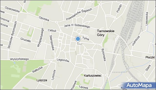 Tarnowskie Góry, Jurczyka Adama, mapa Tarnowskie Góry